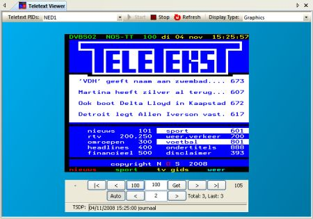 DVBAnalyzer: Teletext Viewer - Graphics