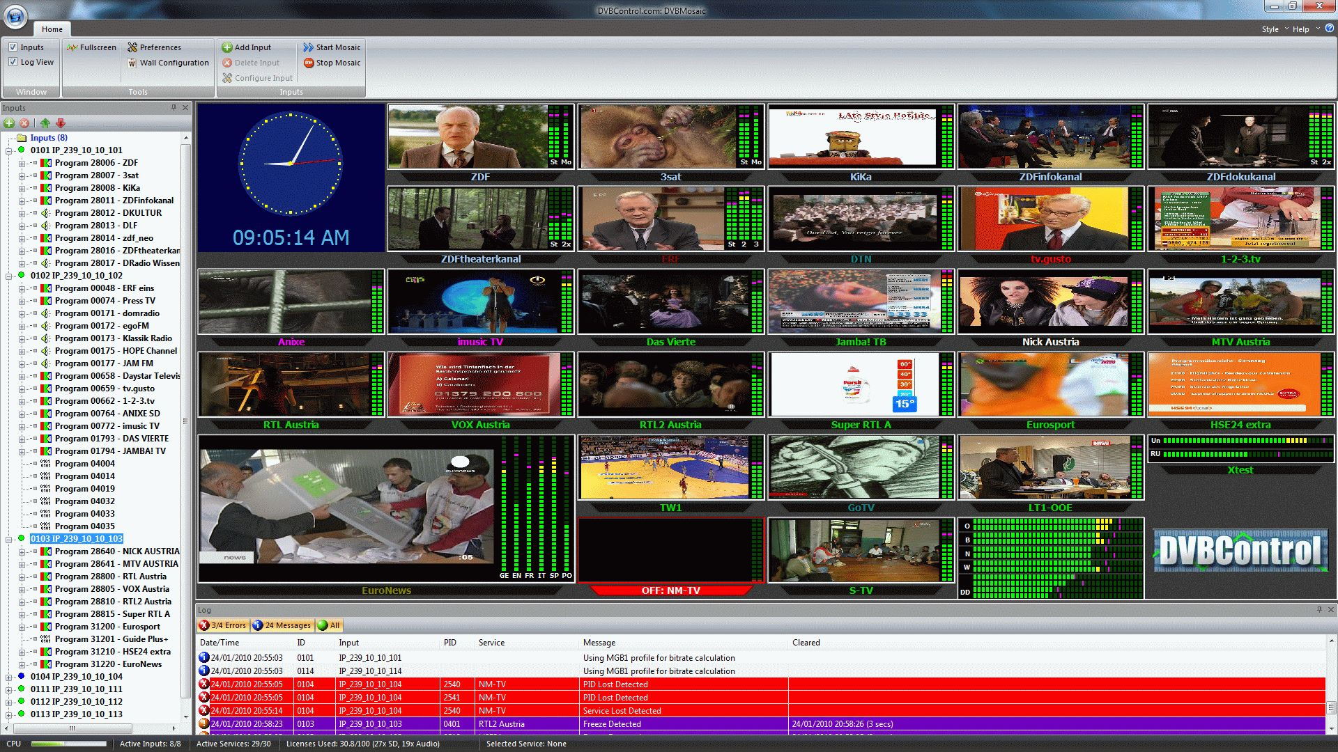 DVBMosaic - DVBControl
